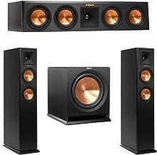 Klipsch 3.1 System with 2 RP-250F Tower Speakers, 1 RP-440C Center Speaker, 1 Klipsch R-112SW Subwoofer + AudioQuest Bundle