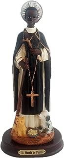 8 Inch Statue Estatua Santo Saint St San Martin de Porres Figurine Collectible