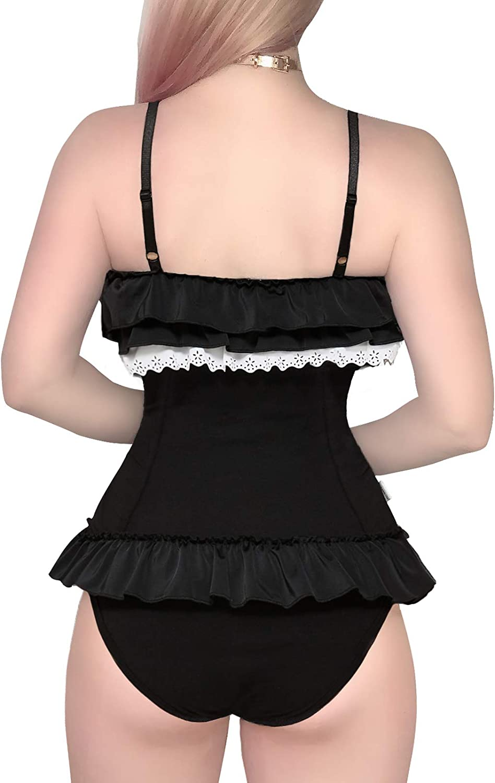 Littleforbig Cotton Fancy Kitty Romper Onesie Pajamas Teddy Lingerie One Piece Babydoll Bodysuit