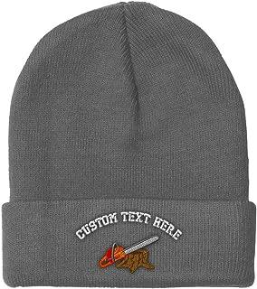 Custom Beanie for Men & Women Lumberjack Logger Saw Embroidery Skull Cap Hat