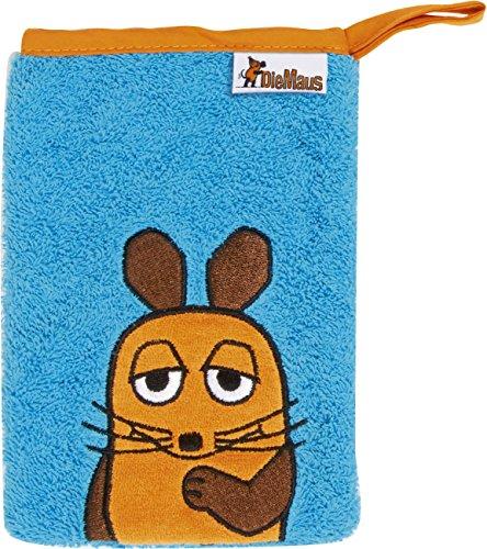 Playshoes DIE MAUS 340090-1 Frottee Waschhandschuh, Größe 15 x 20 cm
