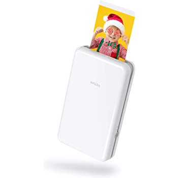 """Victure 2x3"""" Portable Photo Printer, Bluetooth Connection, Wireless Rechargeable Including 10 Pieces of Photo Paper, Android/iOS/Tablet Devices Compatible, no Ink, 4 Pass Technology"""