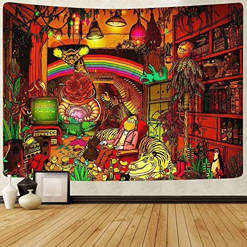 KHKJ Tapiz Colgante de Pared de Calavera de azúcar decoración de Sala de Estar Tela de Fondo Toalla de Playa Estera de Yoga A3 200x150cm