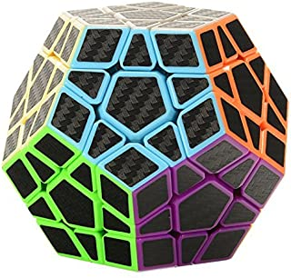 Twister.CK 3x3 Megaminxx Speed Cube Magic Cube Brain Teasers Puzzles with Carbon Fiber Sticker