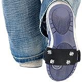 Pearl Schuspikes: 1 par de Clavos de Zapato Easy Fix Grip en un tamaño (Invierno Picos por Zapatos)