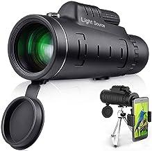 Sponsored Ad - LS Monocular Telescope, 12X52 High Power HD Monocular with Smartphone Holder & Tripod for Hiking, Fishing, ...