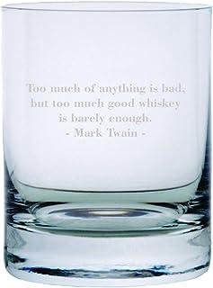 Mark Twain Zitat geätzt 313 ml Stolzle New York Kristall Rocks Glas