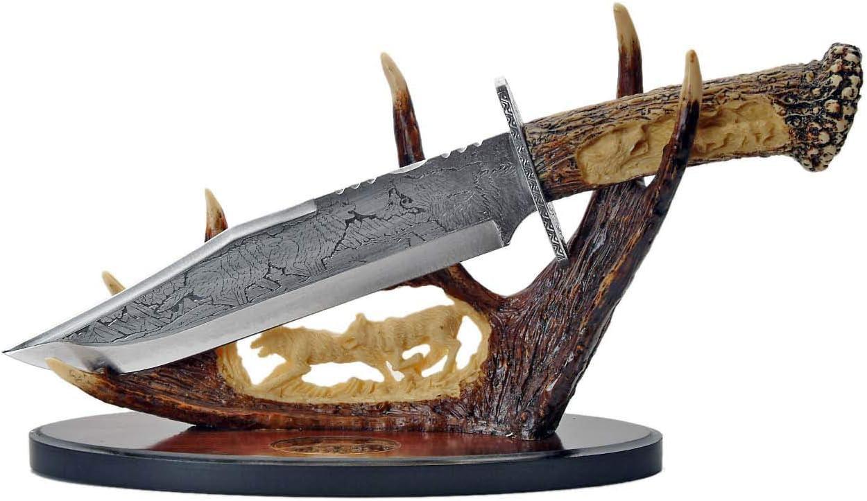 セール 特集 SZCO 卓抜 Supplies Wolf Knife Display Antler