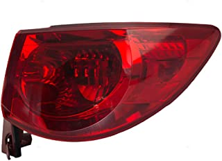 Passengers Taillight Quarter Panel Mounted Tail Lamp Replacement for 09-12 Chevrolet Traverse 15912686 AutoAndArt
