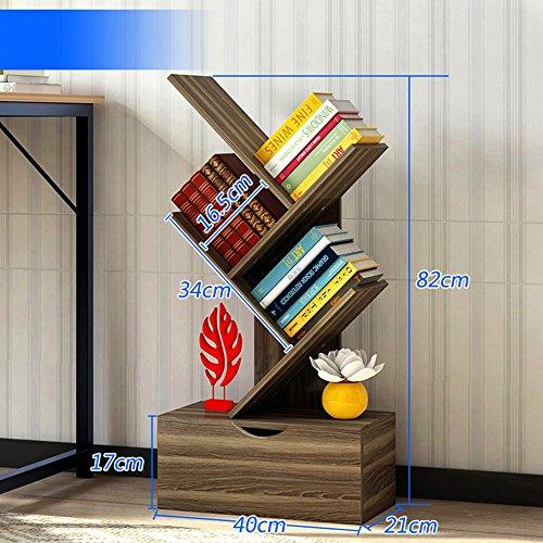 MEIDUO Étagères Étagère bibliothèque étagère étagère de bureau étagère avec tiroirs très durable (Couleur : B)