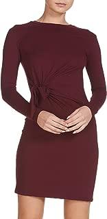 Elan Women's Long-Sleeve Twist-Side Knit Jersey Dress