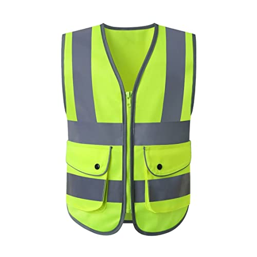 Tool Parts Fluorescent Vest High Visibility Reflective Child Adults Reflective Vest Soccer Cycling Safety Vest Road Traffic Safety Clothing