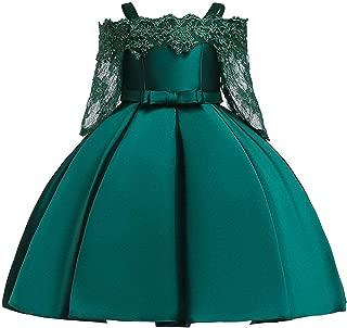 Embroidery Silk Princess Dress Baby Girl Flower Elegant Girls Christmas Dress