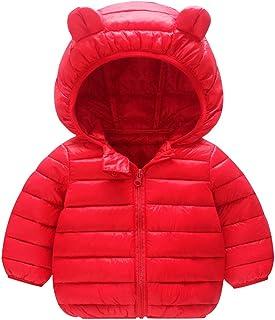 imbottito 12 mesi-5 anni leggero Puffer giacca per neonati e bambine CHMORA Cappotti invernali per bambini con cappuccio