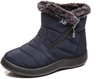 POLP Botas de Nieve para Mujer Cálidas Botines Invierno con Cremallera Calzado Impermeable Zapatos Cálidos Botines de Felp...