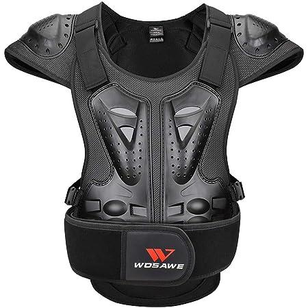 Wosawe Motorrad Schutz Jacke Für Erwachsene Brustpanzer Racing Guard Rückenprotektoren Schutzausrüstung Für Riding Skating Roller Skifahren Snowboard L Auto