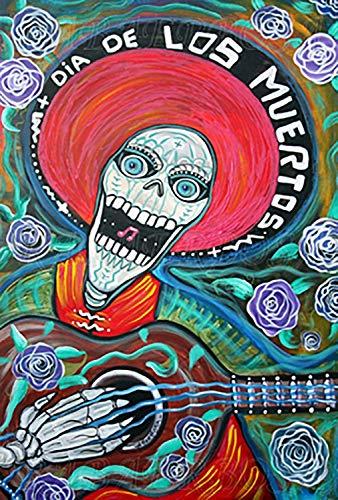 LunBrey Dia De Los Muertos Day of The Dead Poster 20x13 inch
