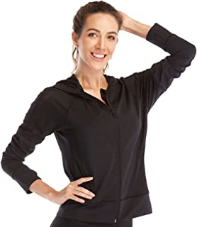 DYZD Sport Lightweight Full-Zip Hooded Workout Long Sleeve Jacket Hooded for Running, Yoga, Fitness