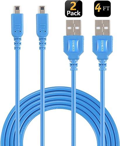 EXLENE 3DS / 2DS Chargeur (2 pièces), Nintendo 3ds USB Chargeur Câble de recharge pour Nintendo 3DS / Nouveau 3DS XL ...