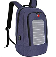 ZGSP Solar Backpack, Solar Hiking Backpack, Laptop Backpack with Integrated Solar Charger, 24