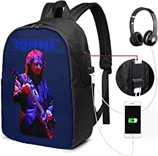 Tony Iommi 'Iommi Photo' School Backpack with USB Charging Port for Women Men, College Student Rucksack Fits 17 Inch Laptop