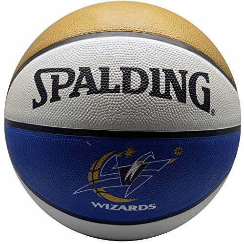 Amazing Deal Spalding NBA Washington Wizards Team Colors and Logo Basketball