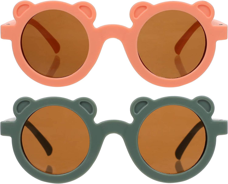 ABOOFAN 2PCS Kids Party Free shipping New Cartoon Sunglasses Max 57% OFF Bear