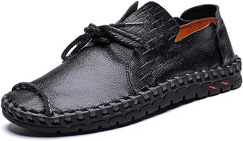EGS-chaussures Noir Marron Jaune Printemps été Mocassins Nouveau Couleur Unie Bendable Décontracté Chaussures en Cuir Décontracté Britannique Confortable Sauvage Dentelle Mode Pois Chaussures Chaussures de Cricket
