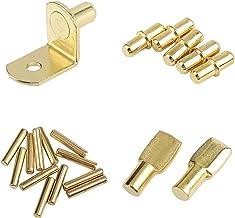 Planksteunpen 10 stks Golden L Shelf Beugel Central Axis Plaat Houder Fixing Support Partition Pin Wall Brackets Meubels H...