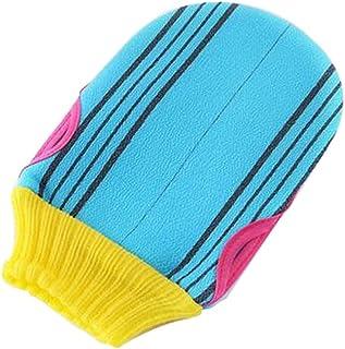 Soft Body Cleaning Bath Gloves Towels Bath Exfoliating Mitts 1 piece, BLUE