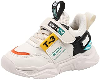Kids Tennis Shoes Boys Lightweight Strap Sneakers Athletic Running Shoes for Girls(Toddler/Little Kid/Big Kid)