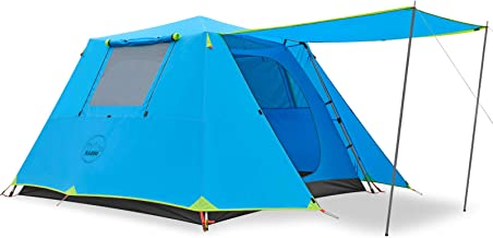 KAZOO Family Camping Tent Large Waterproof Pop Up Tents 4/6/8 Person Room Cabin Tent Instant Setup with Sun Shade Automati...
