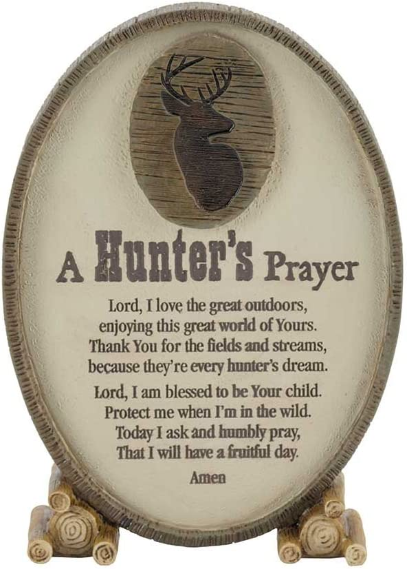 Dicksons A Hunter's Prayer Oval Large-scale sale Indefinitely Shaped Resin Brown 3.5 x 6 Stone