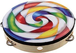 KESOTO 10'' Handmade Lollipop Tambourine Drum Percussion Instrument Educational Toy