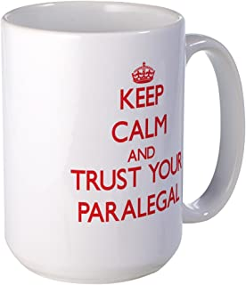 CafePress Keep Calm And Trust Your Paralegal Mugs Coffee Mug, Large 15 oz. White Coffee Cup