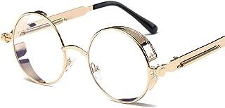 retro round frame sunglasses Colorful spring mirror legs trend sunglasses