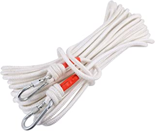 BESPORTBLE 20M Safety Rope Magnet Fishing Nylon Rope with Carabiner High Strength Cord Safety Braid Rope for Magnet Fishin...