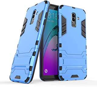 Protective Case Compatible with Samsung Compatible Samsung Galaxy J8 Dual Layer Armor Defender Shockproof Protective Hard Case with Stand Phone case (Color : Blue)