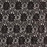 Fabulous Fabrics Spitze schwarz, Blume, 140cm breit –