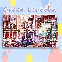 GraceLeacock カードゲームプレイマット 遊戯王 プレイマット 魔法少女まどか☆マギカ 暁美 ほむら アニメグッズ TCG万能 収納ケース付き アニメ 萌え カード枠あり (60cm * 35cm * 0.3cm)