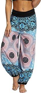 VEZAD Harem Pants Yoga Pants for Women Plus Size Solid Color Casual Loose Trousers