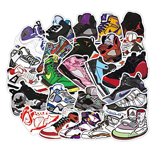 NC56 Shoe Texture Waterproof Removable Stickers Graffiti Luggage Laptop Mobile Phone Motorcycle 36 Pieces