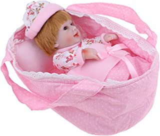 Perfeclan 11inch Reborn Doll with Sleeping Bag Pillow Quilt Set ,Newborn Baby That Look Life Real, Full Soft Silicone Body, Birthday Gift, Bathing Play Toy