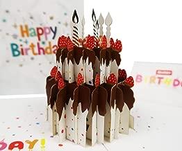 3D Pop Up Card,MITOY Premium Happy Birthday Greeting Card,Creative Handmade Pop Up Birthday Cake Card, Ideal Birthday Present for Father, Mom,Women,Men,Kid,Girlfriend,Boyfriend,Envelope Included