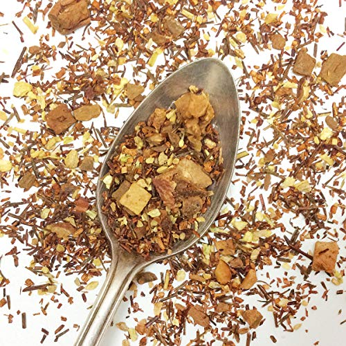 Plum Deluxe Coconut Zingiber Ginger Herbal Tea Loose Leaf Premium Tea Made in the USA (15+ Cups from 1 Oz. Pouch) (Coconut/Ginger/Apple/Cinnamon)