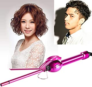 Showlovein Curling Iron 9mm Hair Curler Curling Tong Tourmaline Ceramic Wand Spiral Curling Iron,Temperature Control for Women and Men