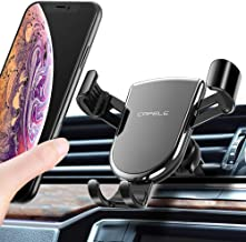 Gravity Car Phone Mount Air Vent Cell Phone Holder Aluminum Alloy Stable Cradle Hands-Free Auto Clamping and Release