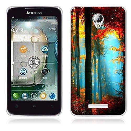 FUBAODA für Lenovo A5000 Hülle, [Landschaft] Künstlerische Malerei-Reihe TPU Hülle Schutzhülle Silikon Hülle für Lenovo A5000