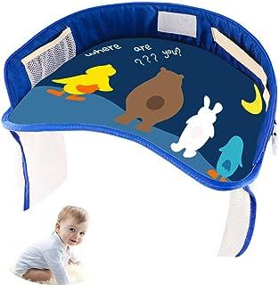 WDXIN Bandeja Viaje Niños Asiento Coche Seguridad Conveniente y practico Impermeable Multifuncional Adecuado para Asientos de Coche, cochecitos de bebé