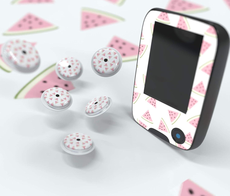 Sticker Freestyle Libre 1 y 2 - Pegatinas adhesivas para el lector y sensores (Sandia)